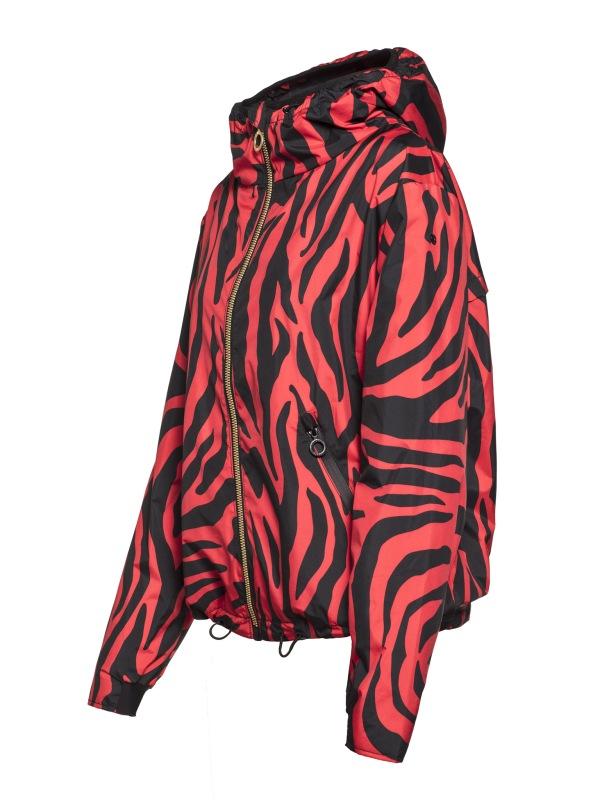 Goldbergh Tiana Jacke mit tiger red Print Ansicht seitlich
