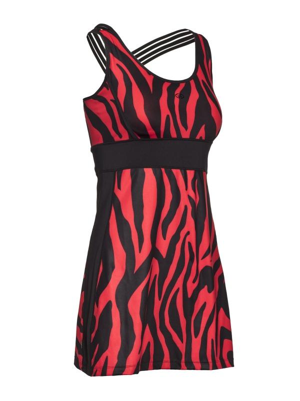 Goldbergh Tinda Kleid tiger red Ansicht vorne seitlich