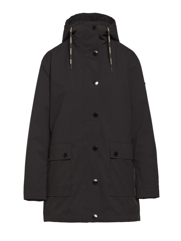 Goldbergh Odelia Regenmantel für Damen in schwarz, Ansicht von vorne